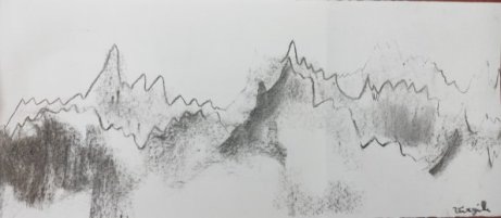 Montagnes au loin - Virgile, 8 ans