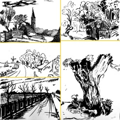 Cours n°1 - Le paysage en gravure : aux élèves de ''comprendre'' et réinterpréter le style des grands maitres : Rembrandt, Millet, Van Gogh...