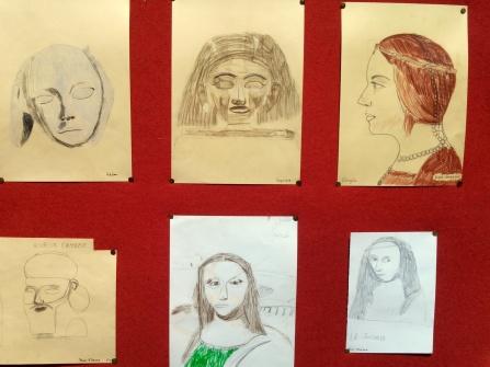 Portraits d'après des peintures ou des sculptures