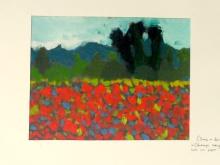 Peinture à l'huile, d'après Claude Monet - Côme, 9 ans