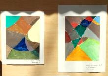 Charivari, peinture à l'huile (recherche de couleurs)