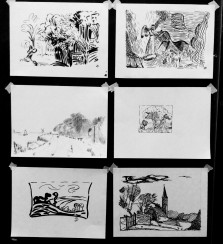 1er cours : études de paysages d'après les maîtres.