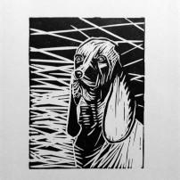 LADY - Linogravure 1/8 - 8,5 x 11,5 cm