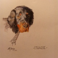 ITHAQUE - Pastel sec, 50 x 65 cm