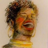 Africaine - Crayons Aquarelle - 20x30 cm