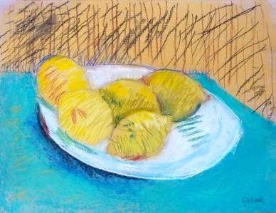 Gabriel 7 ans - Pastel - D'après Van Gogh