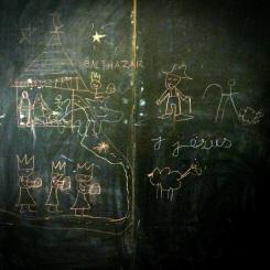 Quand il reste un peu de temps et que les élèves ont le droit de dessiner au tableau...